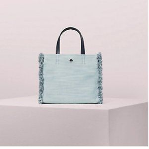 Kate Spade Sam Denim Medium Satchel Light Denim